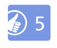 Circled thumbs-up icon.